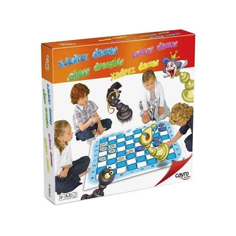 Tablero grande ajedrez y damas 1m2 8422878071593