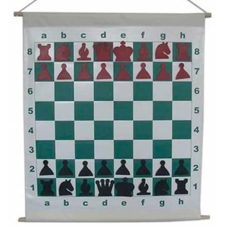 Tauler mural escacs enrotllable per donar classes a escoles
