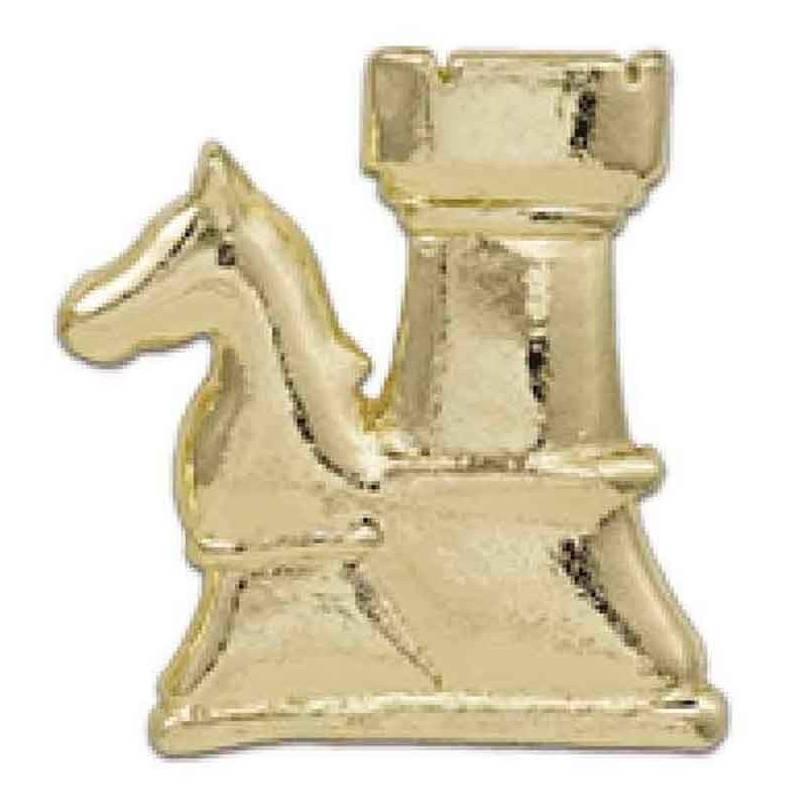 Pin ajedrez dorado