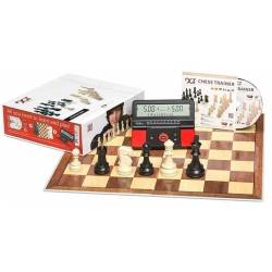 DGT Chess Starter Box Red (board, parts, cd and digital clock)
