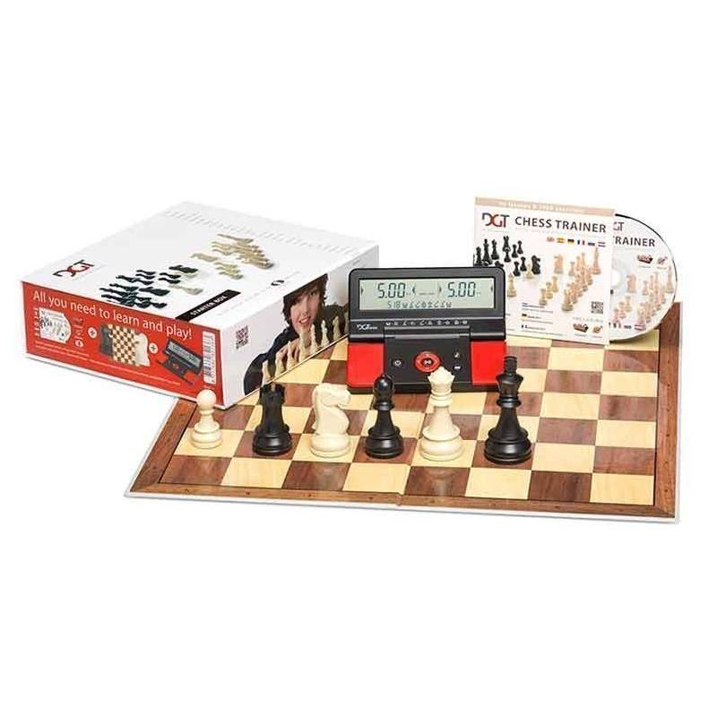 Chess DGT Chess Starter Box (board, parts, cd and digital clock)