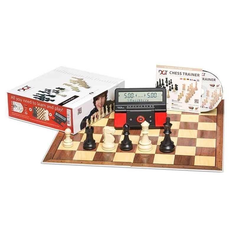 Escacs DGT Chess Starter Box (tauler, peces, cd i rellotge digital)