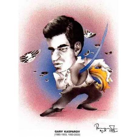 Imanes Caricaturas Campeones del Mundo de ajedrez