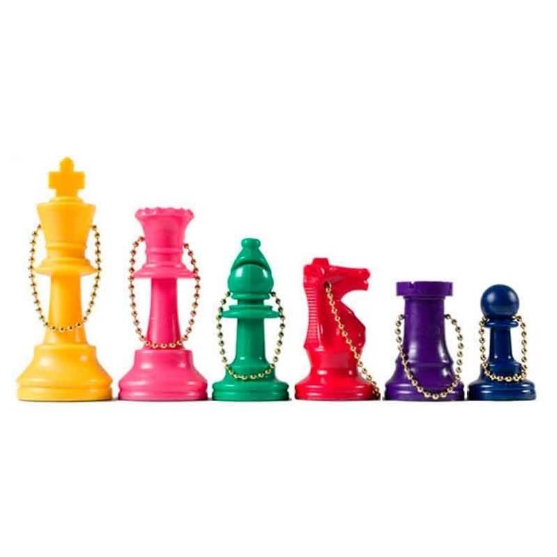 Llavero de plástico ajedrez varios colores