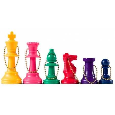 Clauer de plàstic escacs diversos colors