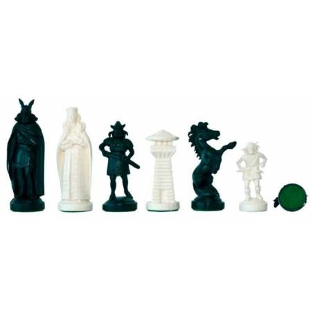 Plastic chess pieces Viking Style