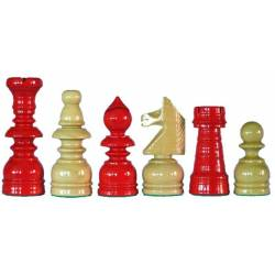 Piezas ajedrez madera estilo Español