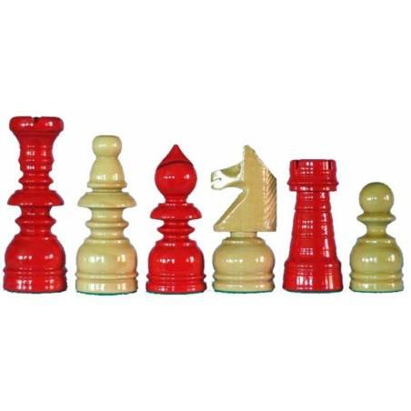 Peces escacs fusta estil Espanyol