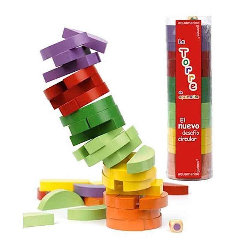 Torre circular de colores