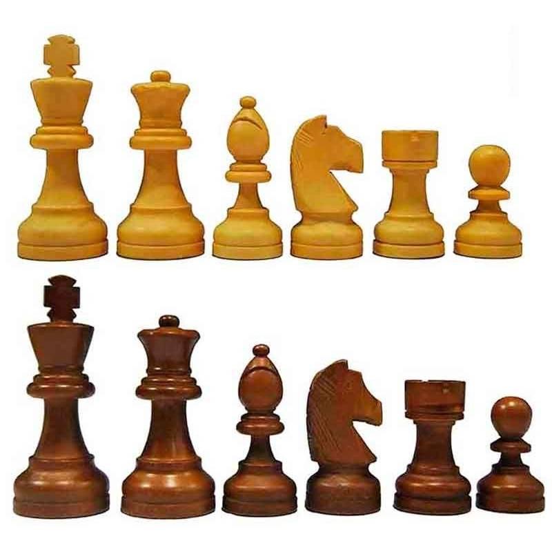 Piezas ajedrez madera modelo Aquamarine plomadas