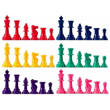 Colour chess pieces for schools