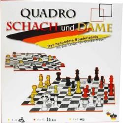 Conjunto 4 jugadores ajedrez  y damas