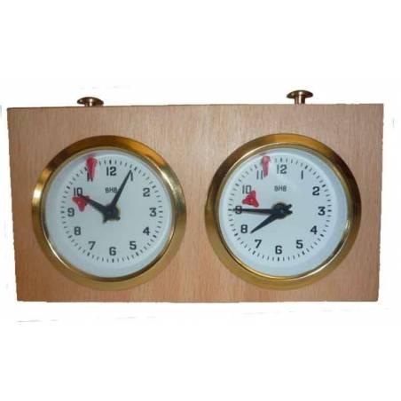 Rellotge BHB analògic d´escacs de fusta