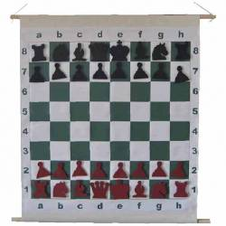Chess board Magnetic roller Mural 72 cm.
