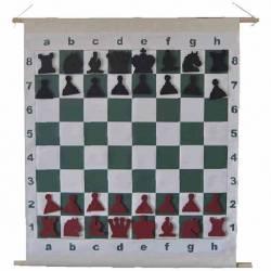 Tablero ajedrez mural enrollable magnético 72 cm.