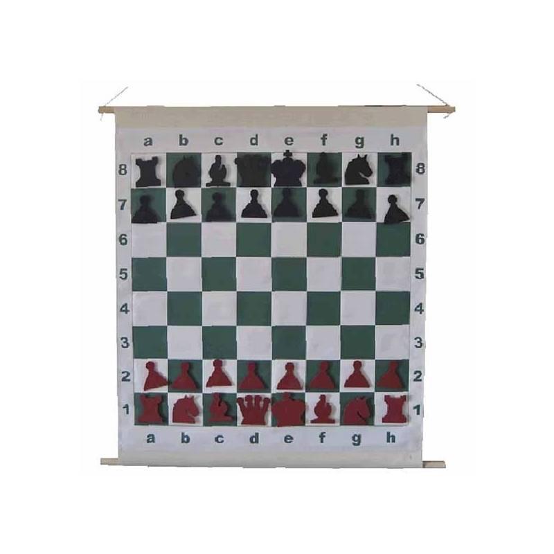 Chess board Magnetic roller Mural 72 cm.