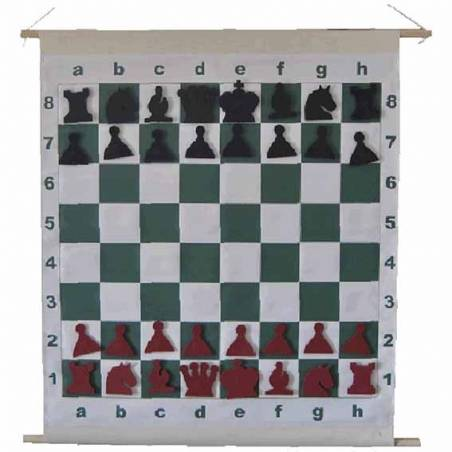 Chess board Magnetic roller Mural