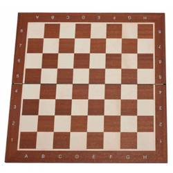 Chess Board Mahogany wood 48 cm. with coordinates