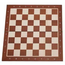 Tablero ajedrez Madera de Caoba plegable 48 cm. con coordenadas