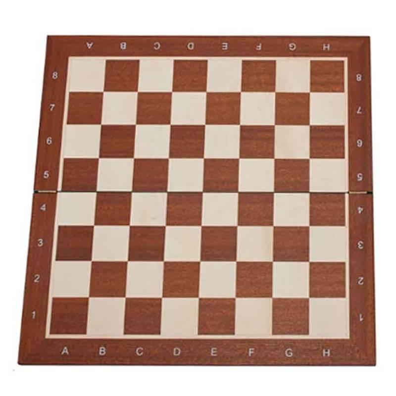 Chess Board Mahogany wood 48 cm. with coordinates