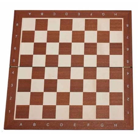 Tablero ajedrez Madera de Caoba plegable 48 o 54 cm.