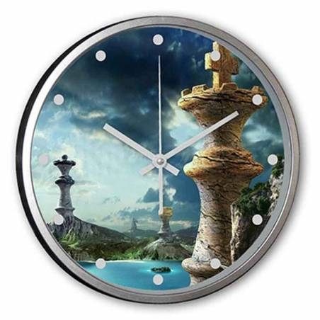 Custom wall clocks with chess drawings