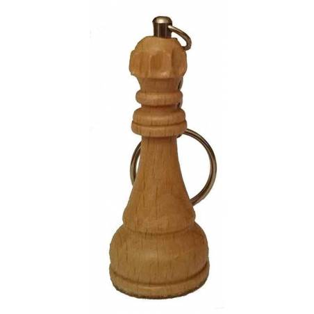Wooden Keychain chess King, Queen, Bishop, Rook, Knight, Pawn