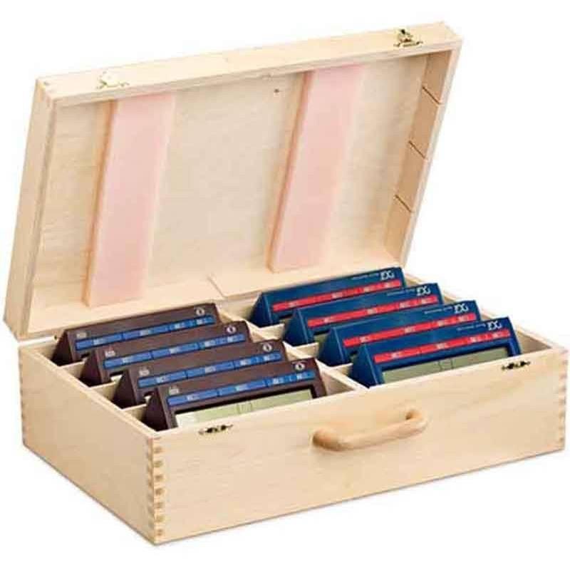 Caja para guardar 8 relojes de ajedrez DGT 2010, XL o Easy