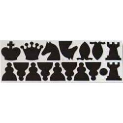 Spare Chess  parts for wallboard