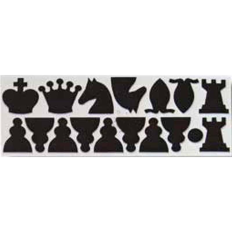 Peces de recanvi per a tauler mural d' escacs