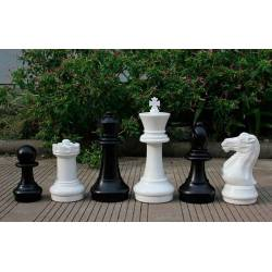 Piezas y tablero ajedrez grande Rey 40 cm.