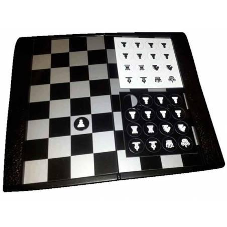 Cartera magnética ajedrez piezas planas