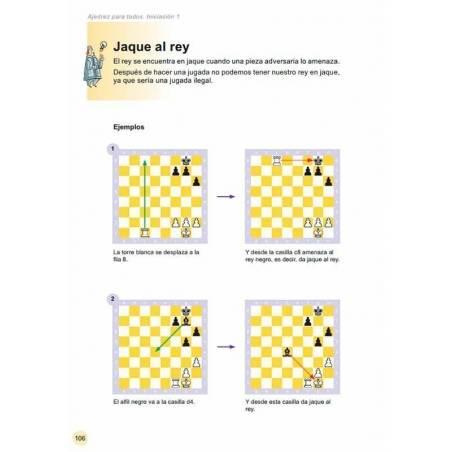 Llibre escacs per a tothom. iniciació 1