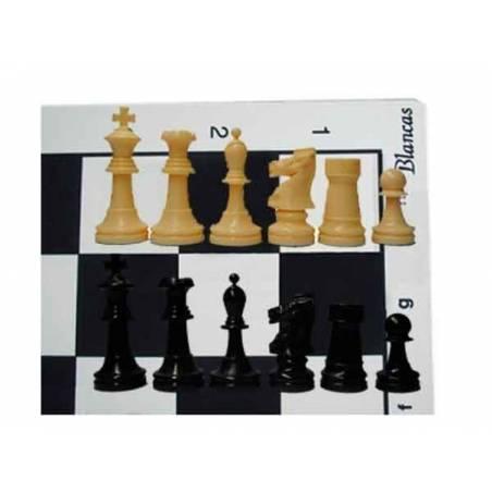 Tablero y piezas ajedrez para clubs superior con caja