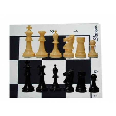 Tablero y piezas ajedrez para colegios superior con caja