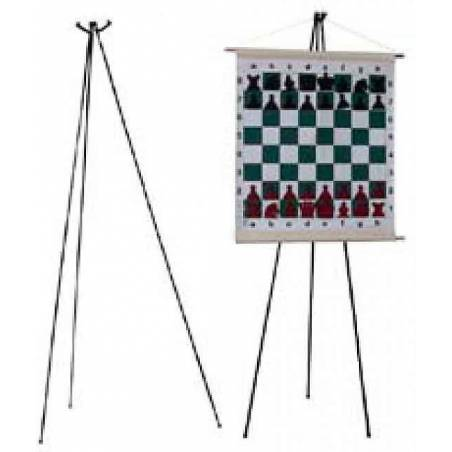 Trípode para tablero mural ajedrez