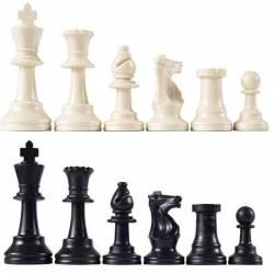 Piezas plastico ajedrez Básicas Club 76 mm