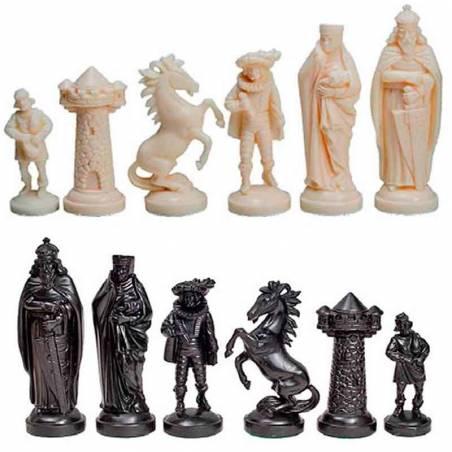Peces d'escacs de plàstic Estil Edat Mitja