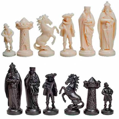 Piezas de ajedrez de plástico Estilo Edad Media