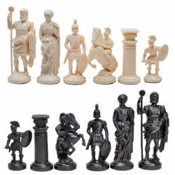 Plastic chess pieces Rome Style