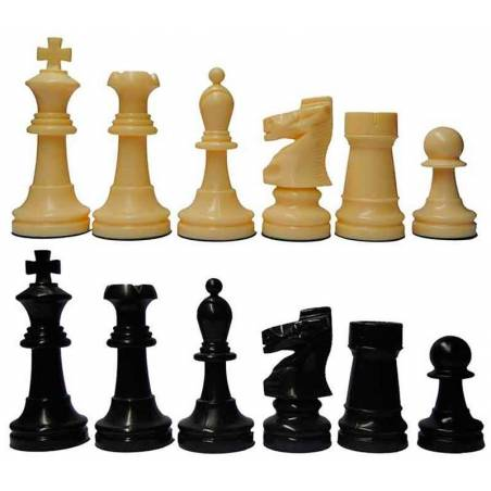 Chess plastic pieces Model Blister Blister Staunton 5/6