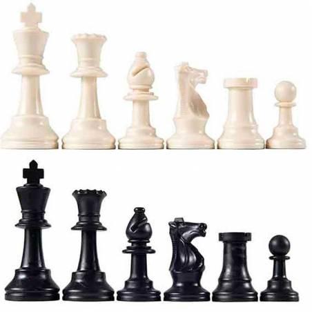 Peces escacs plàstic molt pesades