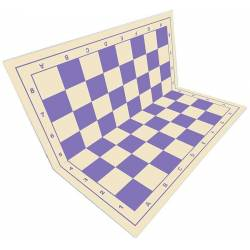 Tablero ajedrez Rígido plegable azul lavanda