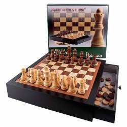 Chess Black lacquered furniture and checkers