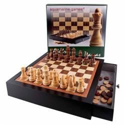 Moble lacat negre escacs i dames