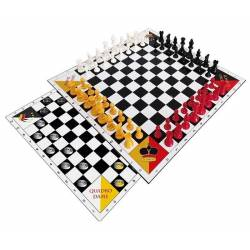Set 4 players chess and checkers