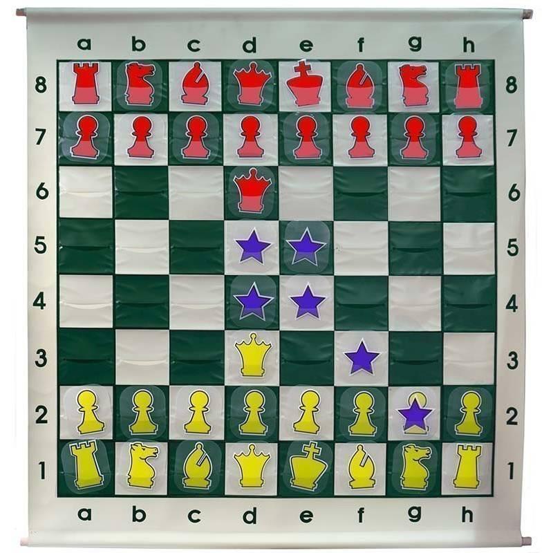 Chess Wallboard cardboard pieces