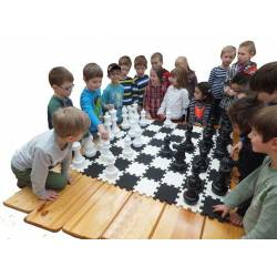 Conjunto grande ajedrez y damas 1m