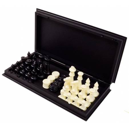 Chess and checkers set magnetic 25 cm.