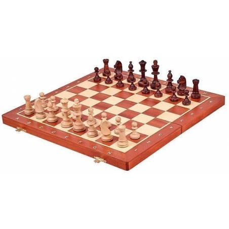 Conjunt escacs caoba magnètic 48 o 54 cm.
